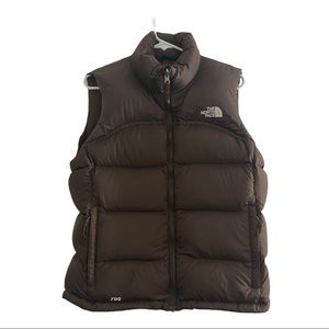 The North Face womens M brown vest 700 goose